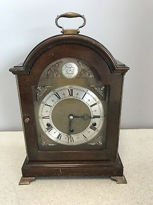 Elliot Bracket Clock Mappin & Webb Ltd 'Tempus Fugit' Westminster Chime c1923