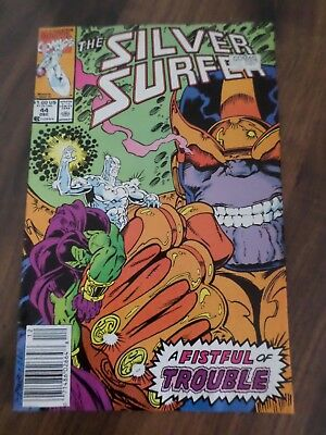 Marvel Comics Silver Surfer #44 1st appearance of the Infinity Gauntlet