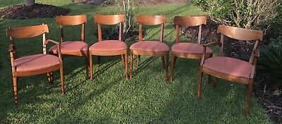 A set of 6 Mid Century Modern Drexel Declaration side and arm chairs
