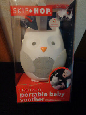 Skip Hop Stroll & Go Portable Owl Baby Soother and Sound Machine NIP