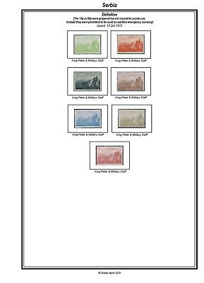 Print a Serbia Stamp Album Fully Annotated & Completely Colour Illustrated
