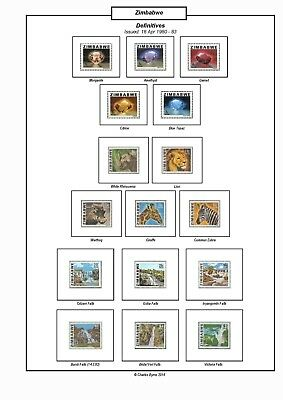 Print a Zimbabwe Stamp Album Fully Annotated & Completely Colour Illustrated