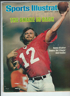 August 6th 1979 vintage issue of Sports Illustrated Kenny Stabler cover