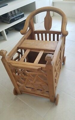 Antique Chinese Child or Baby Cart, Stroller, Chair, Minder