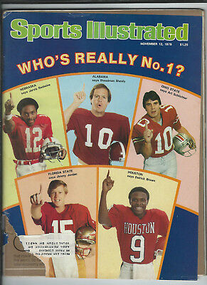 November 12th 1979 vintage issue of Sports Illustrated college football cover