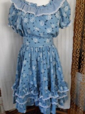 JERI BEE Square Dance Dress Size 18 Pre-owned NICE