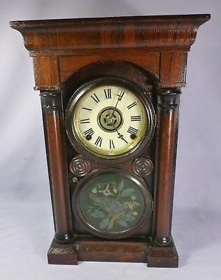 Antique  Ingraham & Co Civil War Era ARCH TOP #1 Clock-with Pratt Label-BEST OFF