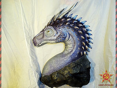 Dragon Figure Head Sculpture Unique Big Fantasy Wall Massive Size 105x75 cm