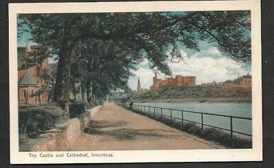 PC of Inverness Castle & Cathedral Unused Vintage VGC .