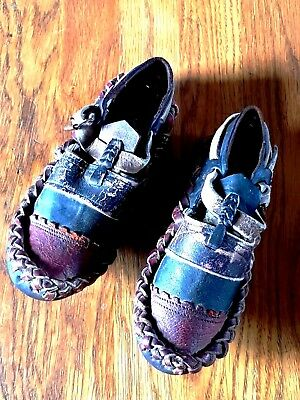Rare Pair of Antique Native American Indian Child's Shoes