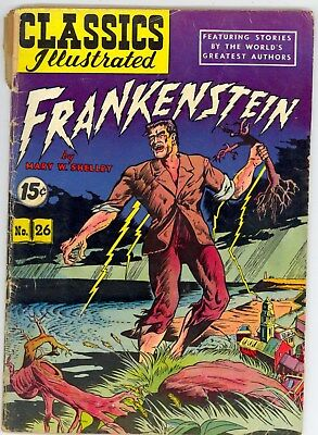 Classics Illustrated 26 :: Frankenstein :: Hrn117 ::  G/vg  Large Scan