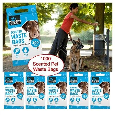 1000 Scented Pet Dog Waste Bags Doggy Cat Poo Toilet Fragrance Pooper Scooper