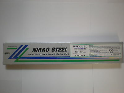 308L Stainless Steel 2.6mm x 300mm x 1kilo Arc Welding Electrodes / Rods / Stick