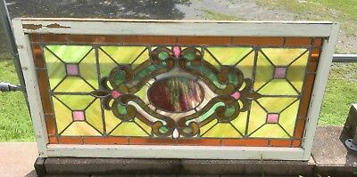 Antique Victorian Leaded Stained Glass Window
