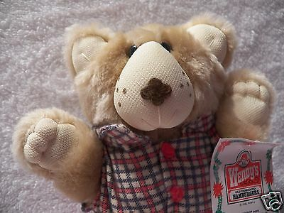 """Furskins Bear 7"""" 1986 Boone Furskin Wendy's Kids Meal Promo With Tags"""