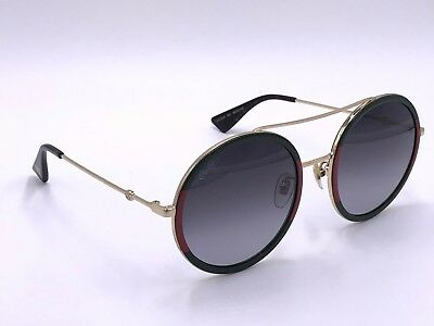 b8b9f2d270f GUCCI GG0061S 003 ROUND STYLE Green  Gold Sunglasses 56-22 140 AUTHENTIC  Japan