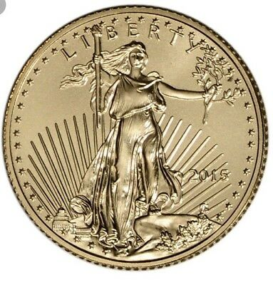 One 1/10 $5 2015 American Gold Eagle Coin