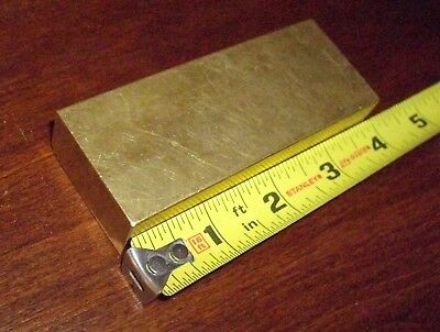 """1 1/2"""" x 3/4"""" C360 BRASS BAR, 3 7/8 inches long solid  rectangle New, Free ship!"""