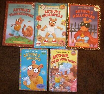 lot of 5 marc brown arthur books easy readers halloween thanksgiving