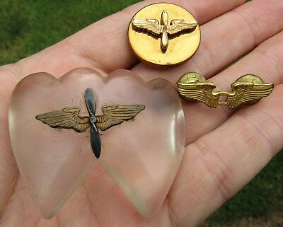 Original WWII US ARMY Air Force USAAF Pin Sweethart Group