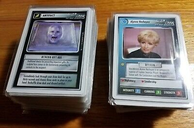 Star Trek CCG Premiere Edition 1994, White Border, 215 cards, NM, All Rares