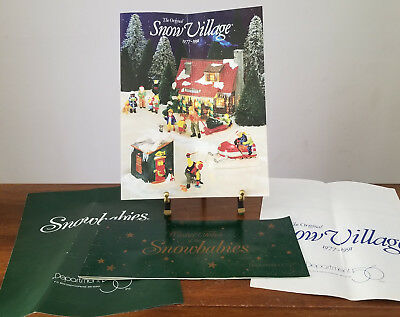 Early 1990's Dept 56 SNOWBABIES and SNOW VILLAGE Price Lists
