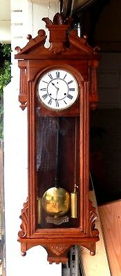 "NO RESERVE - ANSONIA ""PROMPT"" WEIGHT DRIVEN WALL REGULATOR CLOCK, ca. 1895"