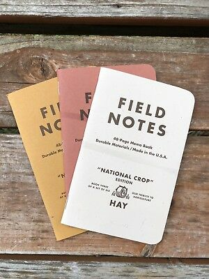 Field Notes Limited Edition National Crop: Spring 2012 (Wheat,Sorghum,Hay)
