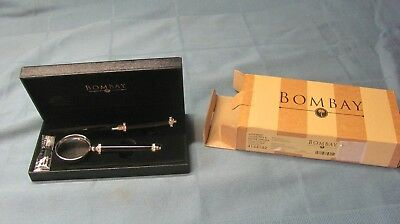 Bombay letter opener, magnifying glass pen gift set with case 4144182 New in box