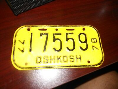 Wisconsin 1977-78 bicycle license plate