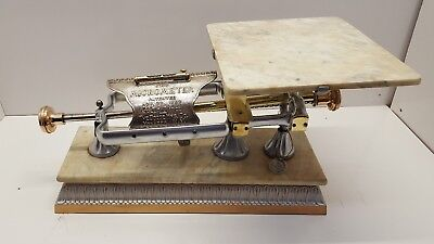 Antique 1900's Dodge Mfg. Co. Brass Micrometer 20lb Scale - Restored & Working
