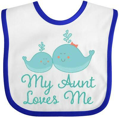 5e560651f Inktastic My Aunt Loves Me Whale Baby Bib Animal Childs Boys Girls Clothing  Sea