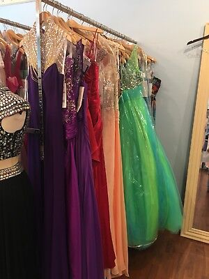 LOT of 6 PROM PAGEANT HOMECOMING SOCIAL FORMAL DRESSES  Dress NWT $1800-2400