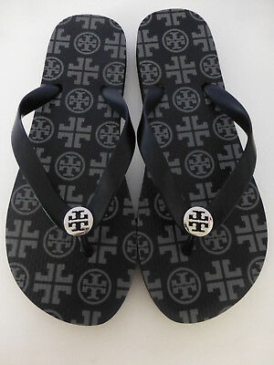 2b542a3c77bc TORY BURCH Black   Grey Flip Flop Sandals Size 8 New Without Box