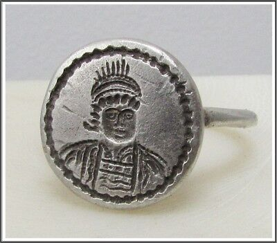 ** ANASTASIUS I **Ancient Silver Byzantine Ring**AMAZING**