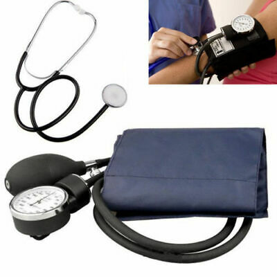 Nylon Cuff Blood Pressure Monitor Stethoscope & Sphygmomanometer Manual BP KIT
