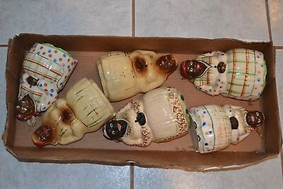 COLLECTION OF Vintage Black Americana String Holders INSTANT COLLECTION 6 IN ALL