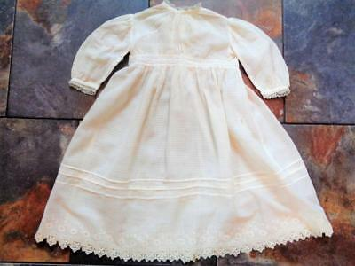 "Large Antique Victorian Doll Dress fits 28""-32"" German French Bisque Character"