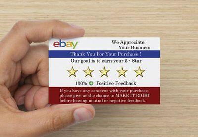 eBay High Quality Thank You  5-Star Business Card Double sided