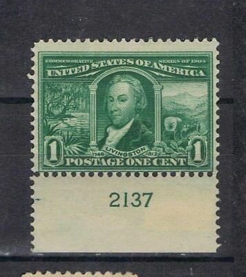 United States 1904 International Exposition 1c SG 330 Sc 322 Mint MH with plate