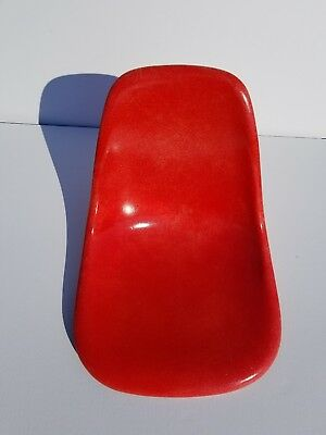 Rare Eames Red Herman Miller Side Shell Chair Vintage