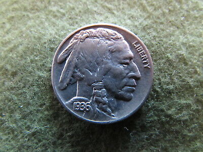 1936 Buffalo Nickel Indian Head Philadelphia Mint 5 Cent Bison Coin MS UNC