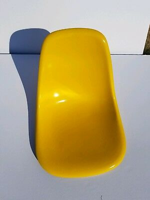 Rare Eames Canary Yellow Herman Miller Side Shell Chair Vintage