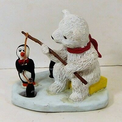 "Coca-Cola Figurine - 1995 Polar Bear Cubs "" Patience Is A Virtue "" # 72009"