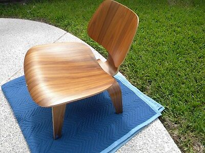 Herman Miller Eames-- LCW Molded Walnut Plywood Lounge Chair w/ Wooden Base
