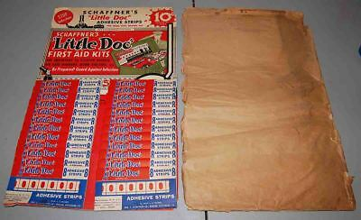 "Vintage 1940's Schaffner's ""Little Doc"" Adhesive Strips store counter display"