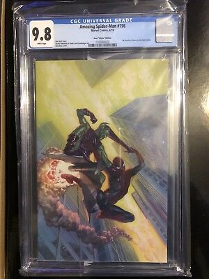 Cgc Amazing Spider-man #798 Alex Ross Virgin Variant Red Goblin Story1:100 9.8