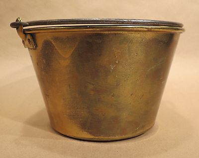 Antique Brass Bucket / Pail | Feb. 13, 1866 | Ansonia Brass Co. / H.W Haydens