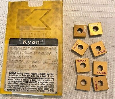 Kennametal Ceramic Inserts - SNGA432T0820 KY3400 - Qty. 8 - NEW!!