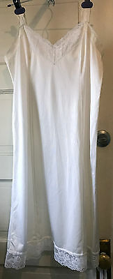 Vintage First Love White Slip Size 36 Lacy